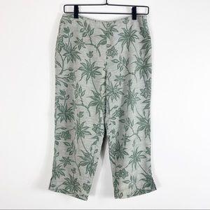 Tommy Bahama Vintage Silk Tropical Capri Pants